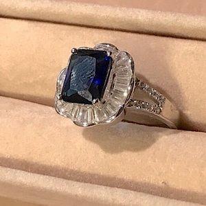 "Blue Saphire w/Zircon Diamonds 10"""